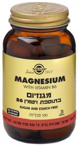 מגנזיום בתוספת ויטמין B6